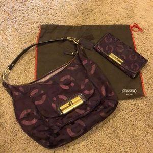 Coach shoulder bag and matching wallet